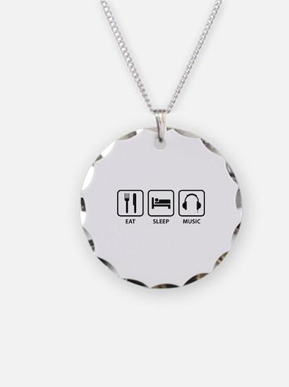 Eat Sleep Music Necklace