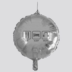 Eat Sleep Music Mylar Balloon