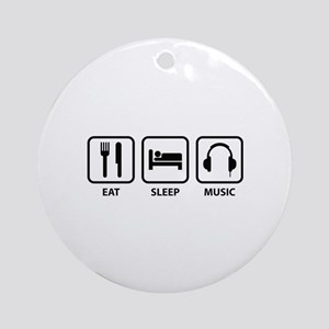 Eat Sleep Music Ornament (Round)