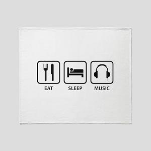 Eat Sleep Music Throw Blanket