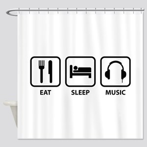 Eat Sleep Music Shower Curtain