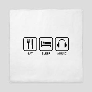 Eat Sleep Music Queen Duvet