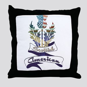 Scottish American Thistle Throw Pillow