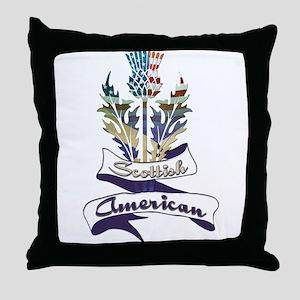 Scottish American Thistle Throw Pillow