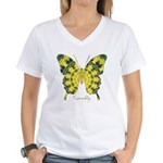 Solarium Butterfly Women's V-Neck T-Shirt