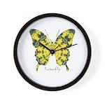 Solarium Butterfly Wall Clock