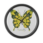 Solarium Butterfly Large Wall Clock