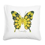Solarium Butterfly Square Canvas Pillow