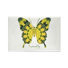 Solarium Butterfly Rectangle Magnet