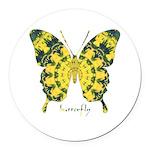 Solarium Butterfly Round Car Magnet