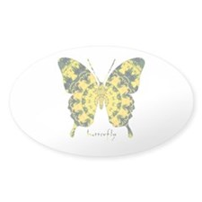 Solarium Butterfly Sticker (Oval)