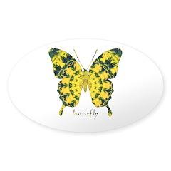 Solarium Butterfly Sticker (Oval)