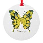 Solarium Butterfly Round Ornament