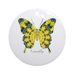 Solarium Butterfly Ornament (Round)