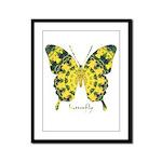 Solarium Butterfly Framed Panel Print