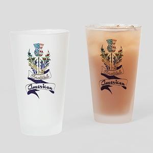 Scottish American Thistle Drinking Glass
