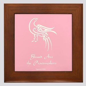 Blessed Are the Peacemakers Framed Tile