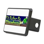 Id Rather Be Elsewhere Rectangular Hitch Cover