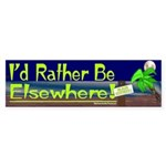 Id Rather Be Elsewhere Sticker (Bumper)