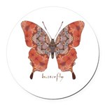 Kismet Butterfly Round Car Magnet