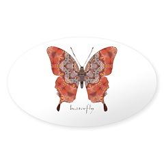 Kismet Butterfly Sticker (Oval)