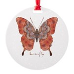 Kismet Butterfly Round Ornament