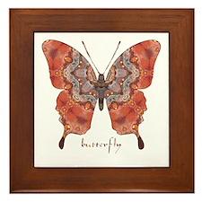 Kismet Butterfly Framed Tile