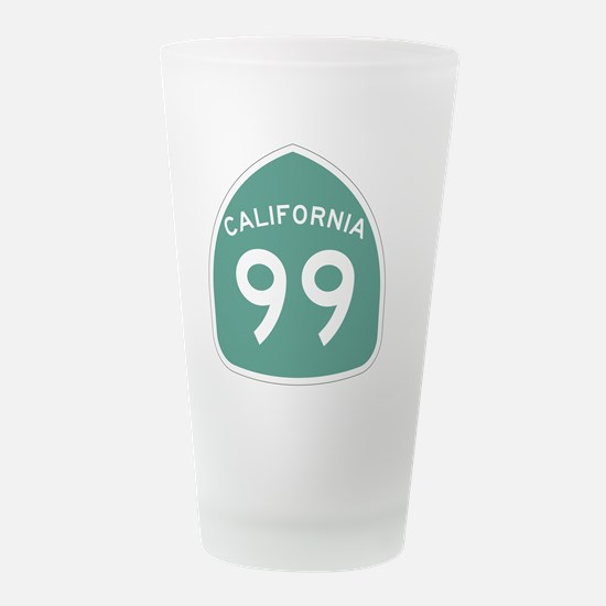 Funny Us route 99 Frosted Drinking Glass