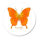 Rapture Butterfly Round Car Magnet