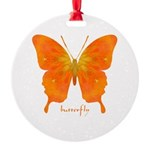 Rapture Butterfly Round Ornament