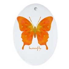 Rapture Butterfly Ornament (Oval)