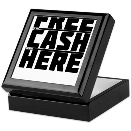 Free Cash Here Keepsake Box
