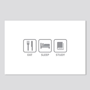 Eat Sleep Study Postcards (Package of 8)