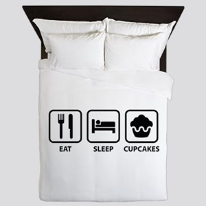 Eat Sleep Cupcakes Queen Duvet