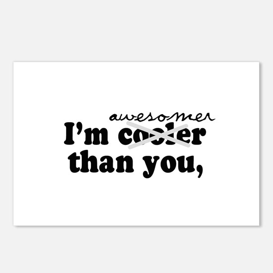 I'm awesomer than you -  Postcards (Package of 8)