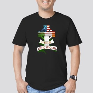 Irish American Celtic Cross Men's Fitted T-Shirt (