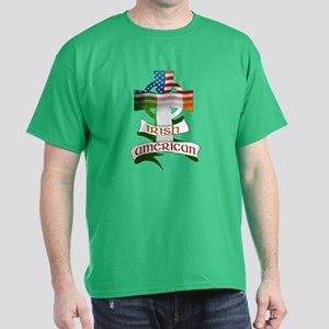 Irish American Celtic Cross Dark T-Shirt