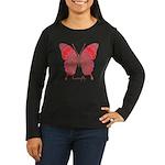 Sesame Butterfly Women's Long Sleeve Dark T-Shirt