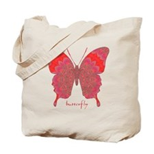 Sesame Butterfly Tote Bag