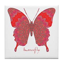 Sesame Butterfly Tile Coaster