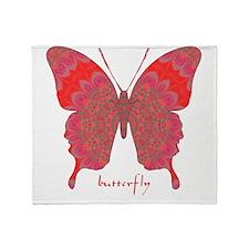 Sesame Butterfly Throw Blanket