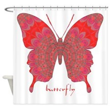Sesame Butterfly Shower Curtain