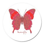 Sesame Butterfly Round Car Magnet