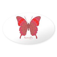 Sesame Butterfly Sticker (Oval)