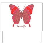 Sesame Butterfly Yard Sign