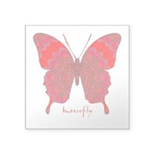 Sesame Butterfly Square Sticker 3