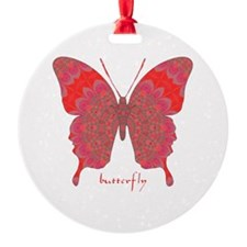 Sesame Butterfly Round Ornament