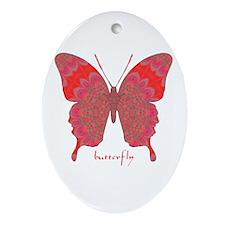 Sesame Butterfly Ornament (Oval)