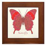 Sesame Butterfly Framed Tile