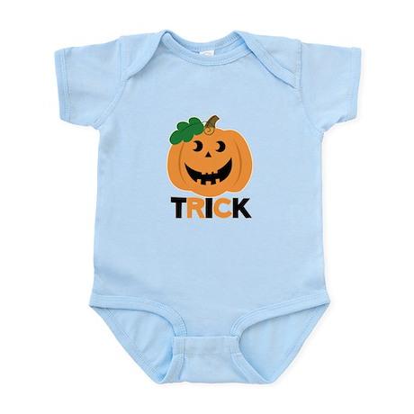 Trick Halloween Pumpkin Infant Bodysuit